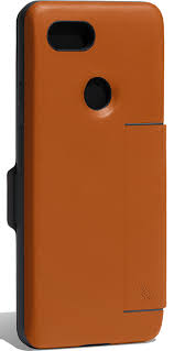 purveyor of fine leather goods bellroy s leather pixel 3 xl cases are available straight from google this one has room for two cards inside the cover and