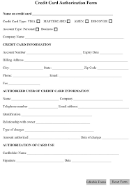 free credit card authorization form