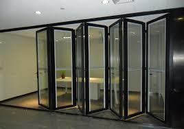 thermal break aluminum frameless glass stacking bi folding bifold closet doors 38 interior door