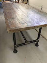 Pipe Table Etsy - Dining room tables reclaimed wood