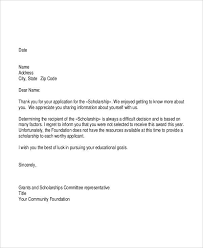 6 Grant Rejection Letters Free Sample Example Format