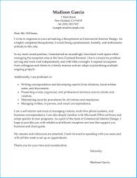 Outstanding Cover Letter Receptionist Which Can Be Used As