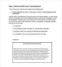 Training Manual Template 11 Training Manual Samples Pdf