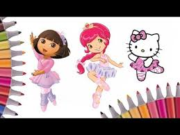 Click the hello kitty ballerina coloring pages to view printable version or color it online (compatible with ipad and android tablets). Hello Kitty Strawberry Shortcake Dora The Explorer Are Ballerinas Coloring Page For Girls Youtube