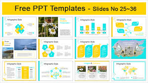 Beautiful Yellow Flower Powerpoint Templates Easily Editable Shape