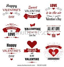 valentine s day labels badges heart icons love greetings cards ilrations and typography