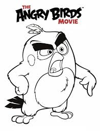 line drawing pics 1 586x768 6 coloring pages of angry birds on kids n fun co uk