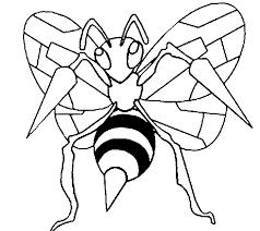 Small Picture Coloring Pages Pokemon Beedrill Drawings Pokemon