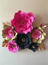 Homemade Paper Flower Decorations 6 Kate Spade Inspired Giant Paper Flowers By Spikedwithglitter