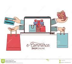 Laptop Met Behang Van De Vastgestelde Gift En Zak Het Winkelen