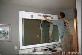 large bathroom mirror frame. Impressive Idea 24 Large Framed Bathroom Mirrors Remodelaholic Mirror Frame A