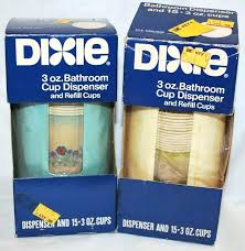 dixie wall mount bathroom cup dispenser cups 3 oz bathroom cups 2 vintage retro nos cup