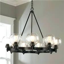 bistro globe clear glass chandelier 16 light chandeliers modern brass with