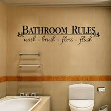 bathroom rules waterproof wall decal sticker wash brush floss flush wall quote decoration home decal decor