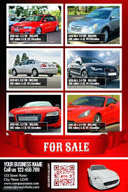 Car Sale Flyer Template For Ad Auto Learnbycode Co