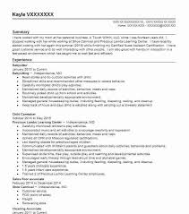 Babysitter Resume Objectives Resume Sample Livecareer