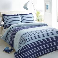 pieridae stripe duvet set bed quilt cover reversible pillowcase texture blue single 259020
