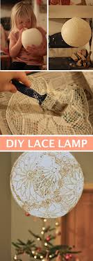 beautiful diy lace lamp made with a balloon and doilies easy diy craft