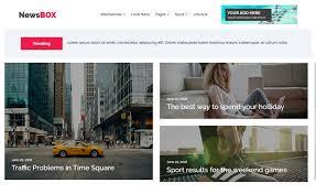 Website Template Newspaper Newsbox Free Bootstrap 4 Html5 News Website Template