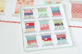 Mini Quilts: An Array of Creatve Patterns & Projects & Mini Spool Quilt by Craftsy Member Camille Roskelley Adamdwight.com