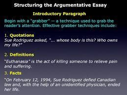 the persuasive essay facts 11 structuring the argumentative essay