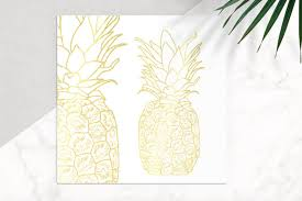 gold pineapple clipart. gold pineapple vector icon clipart