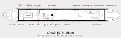 Narrowboat Design And Layout Aqualine Narrowboat Builders Layout Drawing 60ft Madison