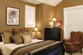 fair design ideas of home interior paint with brown wall color also black wooden bed frames white stripes colors covered
