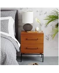 west elm bedroom furniture. West Elm Nash Metal + Wood Nightstand, 2-Drawer, Teak - Nightstands Bedroom Furniture O