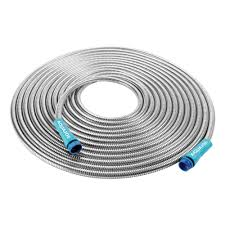 heavy duty spiral constructed stainless steel metal garden hose