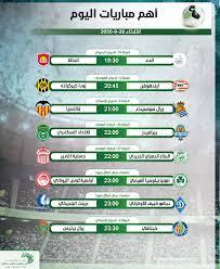 مواعيد أهم مباريات اليوم الثلاثاء 29-9-2020 والقنوات الناقلة - التيار الاخضر