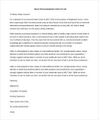 Nurse Reference Letter Fascinating 44 Sample Letters Of Recommendation For Job Sample Templates