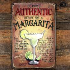 margarita cocktail wine retro bar painting metal decor vintage crafts iron wall art tin sign pub on retro outdoor metal wall art with margarita cocktail wine retro bar painting metal decor vintage