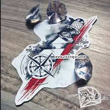 Trash Polka Lighthouse And Compass Available Here тату черная