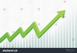 Stock Chart Up Abstract Financial Chart 3d Green Color Stock Vector