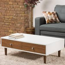 Modern coffee tables white Outdoor Baxton Studio Adal Walnut And White Coffee Table The Home Depot Baxton Studio Adal Walnut And White Coffee Table288625482hd The