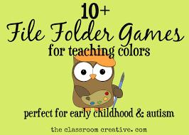 File Folder Games For Teaching Colors