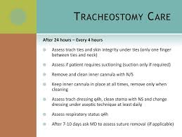 trach care tracheostomy care staff education march ppt download