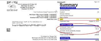 Bill Format Billing Format Heart Of Texas Ec
