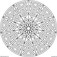 Coloring Pages Designs Free Printable Geometric Coloring Pages