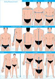 body measurement chart for men mens measurement