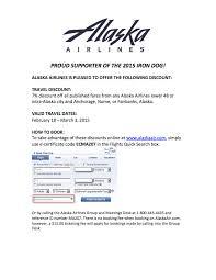 alaska airlines guardian form alaska airlines discount 2015 iron dog race