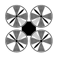 ドローン上面 ピクトグラム イラスト フリー素材