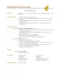 Objective Accounting Resumes Accountant Resume Objective Examples 2 Blank Invoice