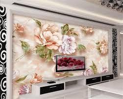 Handmade Wallpaper Design Beibehang 3d Wallpaper Marble Handmade Floral 3d Tv