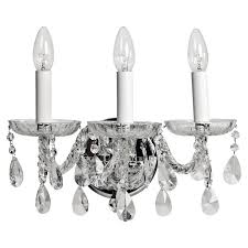 tipperary crystal balm 3 arm wall light achica