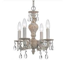 shabby vintage chandeliers antique shabby chic mini chandelier with 4 lights home