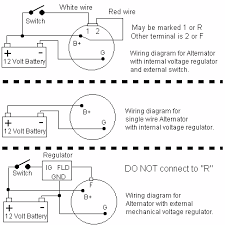 alternator wiring 1 3 wire alternator hook up at Two Wire Alternator Wiring Diagram