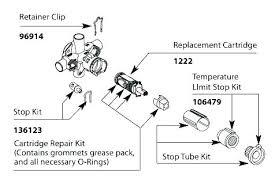 moen shower valve repair old cartridge removed