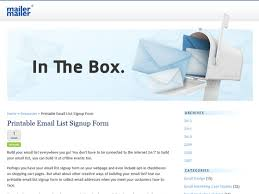 email list signup form mailermailer printable email list signup form email marketing